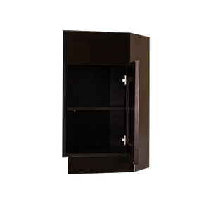 Anchester Espresso Base End Angle Cabinet 1 Fake Drawer 1 Door Adjustable Shelf (Right)