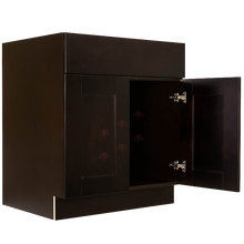 Load image into Gallery viewer, Anchester Espresso Sink Base Cabinet 1 Dummy Drawer 2 Doors