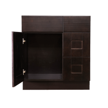 Load image into Gallery viewer, Anchester Espresso Vanity Sink Base Cabinet 1 Dummy Drawer 1 Door (Right)