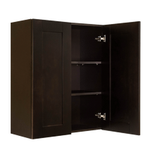 Load image into Gallery viewer, Anchester Espresso Wall Cabinet 2 Doors 2 Adjustable Shelves