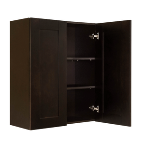 Anchester Espresso Wall Cabinet 2 Doors 2 Adjustable Shelves