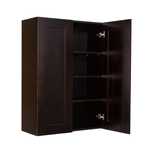Anchester Espresso Wall Cabinet 2 Doors 3 Adjustable Shelves