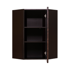 Load image into Gallery viewer, Anchester Espresso Wall Diagonal Corner 1 Door 2 Adjustable Shelves