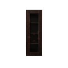 Load image into Gallery viewer, Anchester Espresso Wall Mullion Door Cabinet 1 Door 3 Adjustable Shelves Glass Not Included