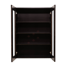 Load image into Gallery viewer, Anchester Espresso Wall Mullion Door Cabinet 2 Doors 3 Adjustable Shelves Glass Not Included