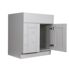 Load image into Gallery viewer, Anchester Gray Sink Base Cabinet 1 Dummy Drawer 2 Doors