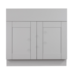 Anchester Gray Sink Base Cabinet 2 Dummy Drawer 2 Doors