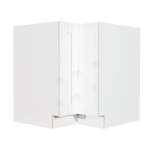 Load image into Gallery viewer, Anchester White Lazy Susan Base Cabinet 2 Full Height Folding Doors