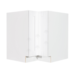 Anchester White Lazy Susan Base Cabinet 2 Full Height Folding Doors