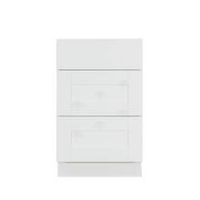 Load image into Gallery viewer, Anchester White Vanity Drawer Base Cabinet 3 Drawers