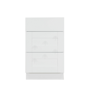 Anchester White Vanity Drawer Base Cabinet 3 Drawers