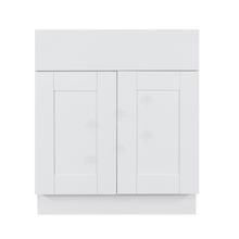 Load image into Gallery viewer, Anchester White Vanity Sink Base Cabinet 1 Dummy Drawer 2 Doors