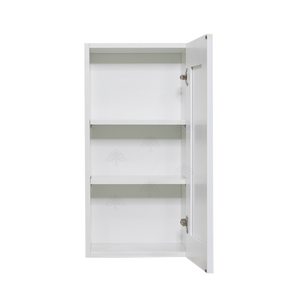 Anchester White Wall Cabinet 1 Door 2 Adjustable Shelves