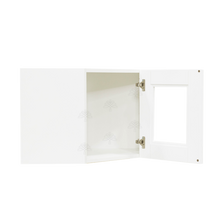 Load image into Gallery viewer, Anchester White Wall Mullion Door Diagonal Corner Cabinet 1 Door No Shelf Glass Not Included