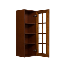 Load image into Gallery viewer, Cambridge Wall Mullion Door Cabinet 1 Door 3 Adjustable Shelves Glass Not Included