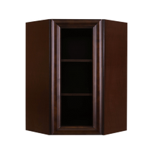 Load image into Gallery viewer, Edinburgh Wall Mullion Door Diagonal Corner Cabinet 1 Door 3 Adjustable Shelves Glass Not Included