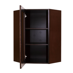 Edinburgh Wall Mullion Door Diagonal Corner Cabinet 1 Door 3 Adjustable Shelves Glass Not Included