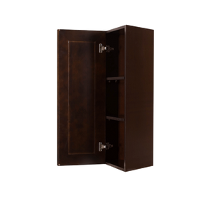 Edinburgh Wall End Angle Cabinet 1 Door 2 or 3 Shelves