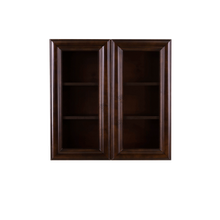 Load image into Gallery viewer, Edinburgh Wall Mullion Door Cabinet 2 Doors 2 Adjustable Shelves Glass Not Included