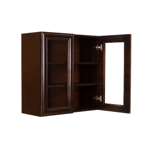 Edinburgh Wall Mullion Door Cabinet 2 Doors 2 Adjustable Shelves Glass Not Included