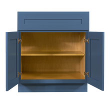 Load image into Gallery viewer, Lancaster Blue Base Cabinet 1 Drawer 2 Doors 1 Adjustable Shelf