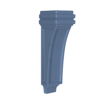 Load image into Gallery viewer, Lancaster Series Blue Shaker Cabinet Corbel Flat Design Extra Large