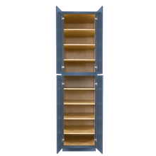 Load image into Gallery viewer, Lancaster Blue Tall Pantry 2 Upper Doors and 2 Lower Doors