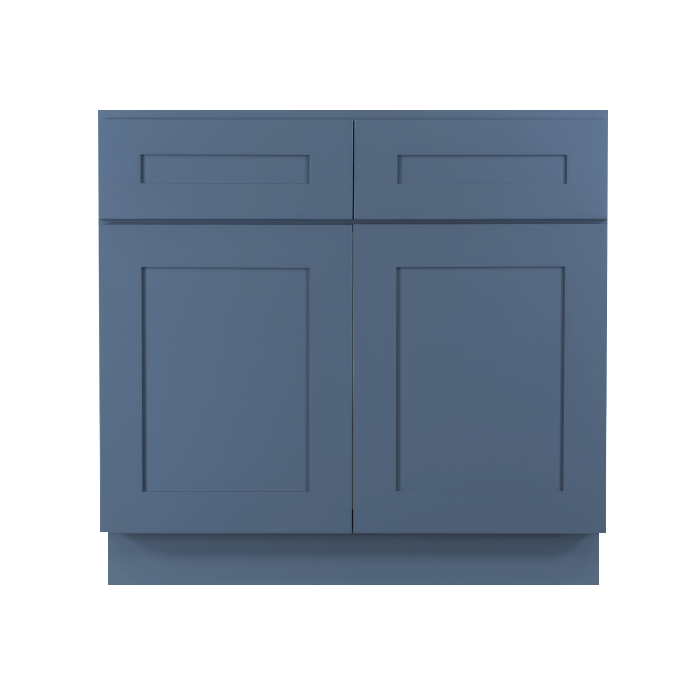 Lancaster Blue Sink Base Cabinet 2 Dummy Drawer 2 Doors
