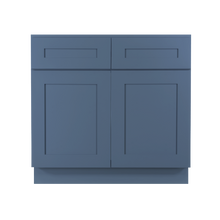 Load image into Gallery viewer, Lancaster Blue Sink Base Cabinet 2 Dummy Drawer 2 Doors