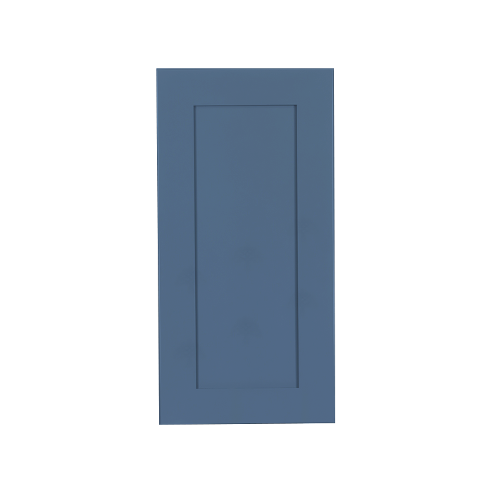 Lancaster Blue Wall Cabinet 1 Door 2 Adjustable Shelves
