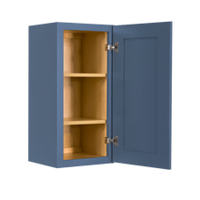 Load image into Gallery viewer, Lancaster Blue Wall Cabinet 1 Door 2 Adjustable Shelves