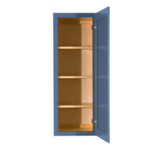 Load image into Gallery viewer, Lancaster Blue Wall Cabinet 1 Door 3 Adjustable Shelves