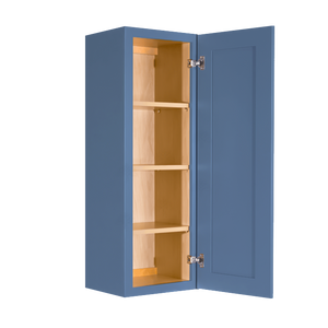 Lancaster Blue Wall Cabinet 1 Door 3 Adjustable Shelves