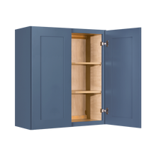 Load image into Gallery viewer, Lancaster Blue Wall Cabinet 2 Doors 2 Adjustable Shelves