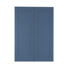 Load image into Gallery viewer, Lancaster Blue Wall Cabinet 2 Doors 3 Adjustable Shelves