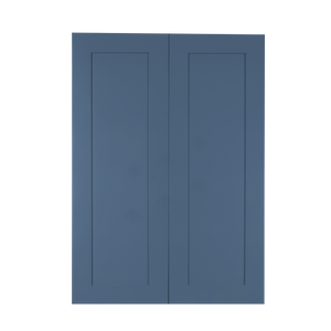 Lancaster Blue Wall Cabinet 2 Doors 3 Adjustable Shelves