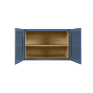 Lancaster Blue Wall Cabinet 2 Doors 1 Adjustable Shelf