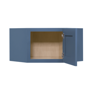 Lancaster Blue Wall Diagonal Cabinet 1 Door No Shelf