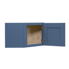 Load image into Gallery viewer, Lancaster Blue Wall Diagonal Cabinet 1 Door No Shelf