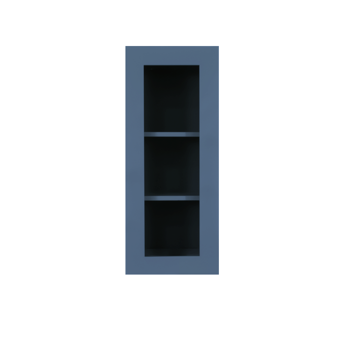 Lancaster Blue Wall Mullion Door Cabinet 1 Door 2 Adjustable Shelves Glass not Included