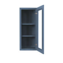 Load image into Gallery viewer, Lancaster Blue Mullion Door Cabinet 1 Door 2 Adjustable Shelves Glass not Included