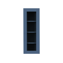 Load image into Gallery viewer, Lancaster Blue Wall Mullion Door Cabinet 1 Door 3 Adjustable Shelves Glass not Included