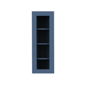 Lancaster Blue Wall Mullion Door Cabinet 1 Door 3 Adjustable Shelves Glass not Included