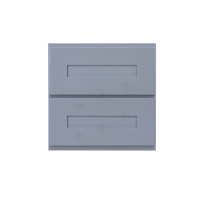 Lancaster Series Dark Gray Finish Shaker Cabinet Counter Top Drawer