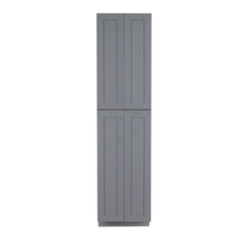 Load image into Gallery viewer, Lancaster Gray Tall Pantry 2 Upper Doors and 2 Lower Doors