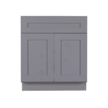 Load image into Gallery viewer, Lancaster Gray Sink Base Cabinet 1 Dummy Drawer 2 Doors