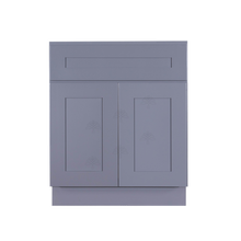 Load image into Gallery viewer, Lancaster Gray Vanity Sink Base Cabinet 1 Dummy Drawer 2 Doors
