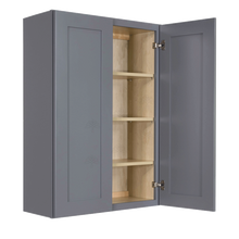 Load image into Gallery viewer, Lancaster Gray Wall Cabinet 2 Doors 3 Adjustable Shelves