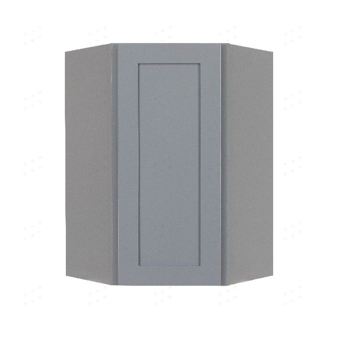 Lancaster Gray Wall Diagonal Corner 1 Door 2 Adjustable Shelves