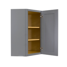 Load image into Gallery viewer, Lancaster Gray Wall Diagonal Corner 1 Door 2 Adjustable Shelves